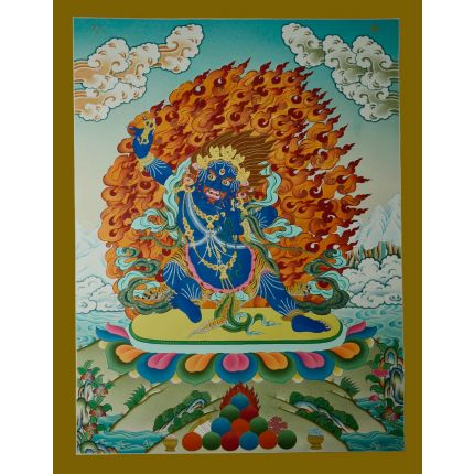 "26.5""x20.5"" Vajrapani Thanka Painting"