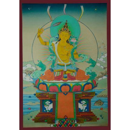 """25""""x17.5"""" Manjushiri Thankga Painting"""