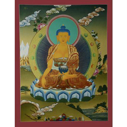 """26.25""""x20.5""""  Shakyamuni Buddha Thangka Painting"""