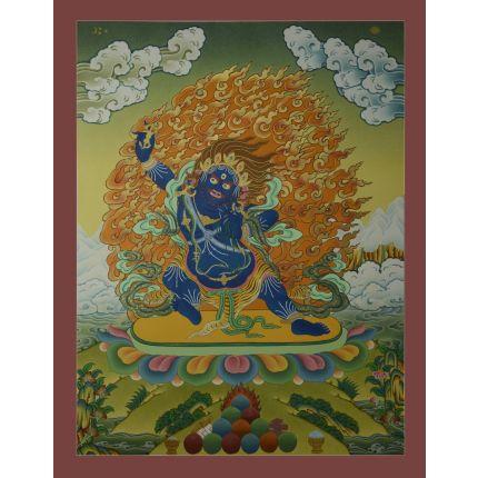 """26.25""""x20.5"""" Vajrapani Thangka Painting"""