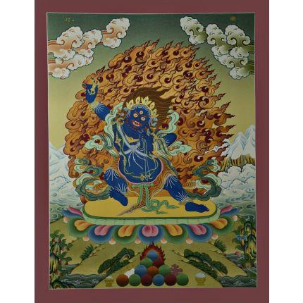 """26.5""""x20.5"""" Vajrapani Thangka Painting"""