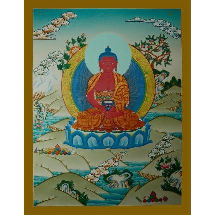 "26.25""x20.25"" Amitabha Buddha Thangka  Painting"