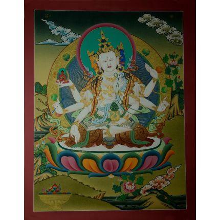 """26.25""""x20.25"""" Namgyalma Thangka Painting"""