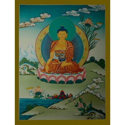 """26""""x20"""" Shakyamuni Buddha Thangka Painting"""