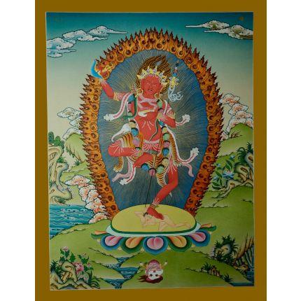 "26.5""x20.5"" Vajravarahi  Thanka Painting"