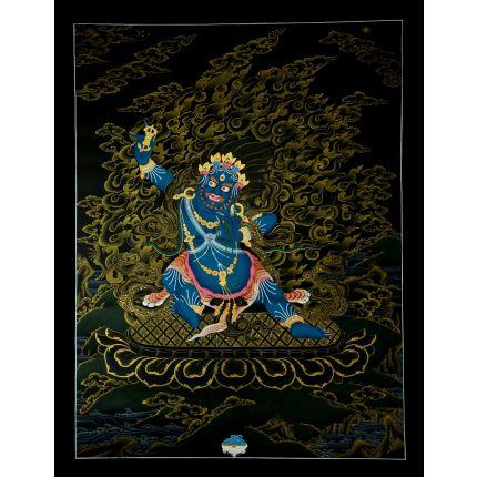 """26""""x20.25"""" Vajrapani Thangka Painting"""