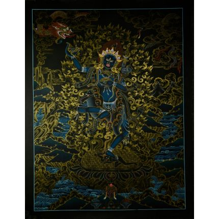 "26""x20"" Vajravarahi or Dorje Phagmo Thangka Painting"