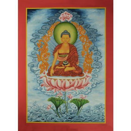 """27"""" x19 Shakyamuni Buddha Thangka Painting"""