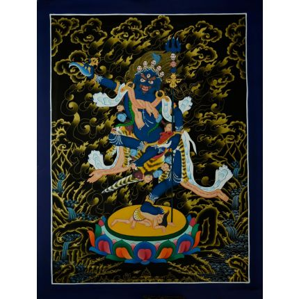 "27.75""x21""  Vajravarahi or Dorje Phagmo Thangka Painting"