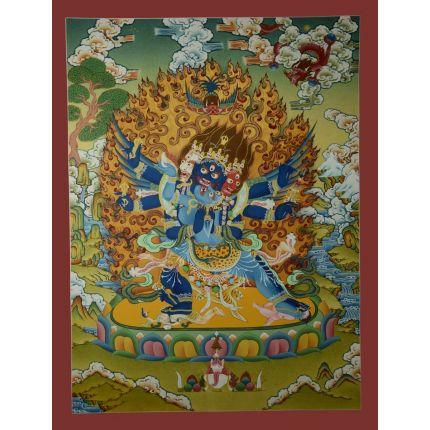 """29.5""""x22.5"""" Vajrakilaya Thangka Painting"""