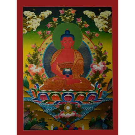 "30.25""x22.5"" Amitabha Buddha Thangka  Painting"