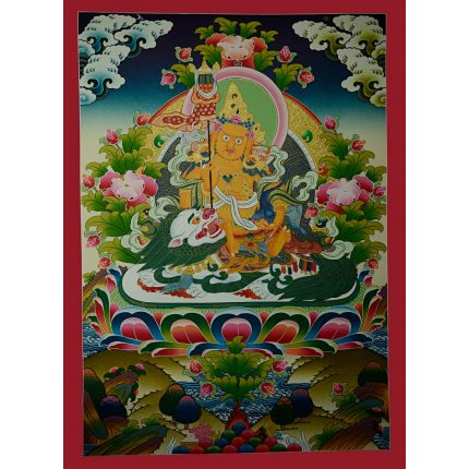 "30.75""x22.25"" Vaishravana Thankga Painting"