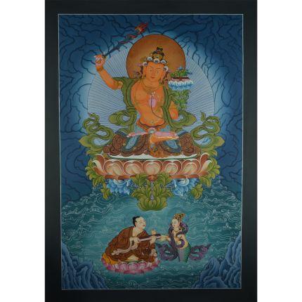"""33.75"""" x 23.75"""" Manjushiri Thankga Painting"""