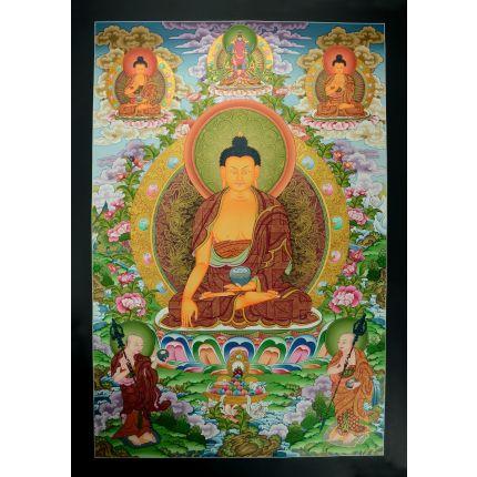 """32.75"""" x 22.75""""Shakyamuni Buddha Thangka Painting"""