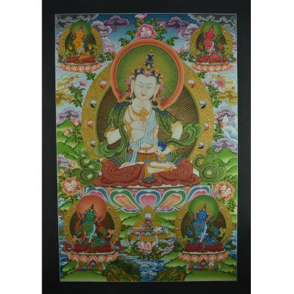 "32.75"" x 22.75"" Vajrasattva Thangka Painting"