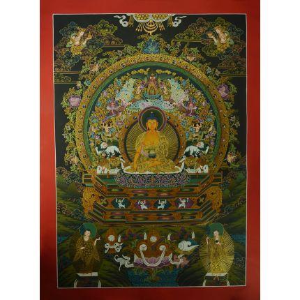 """Shakyamuni Buddha  Thangka  Meditaiton – 33.5"""" x 24.7"""""""