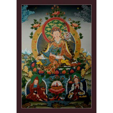 """32.5""""x22.5"""" Guru Padmasambhava Thangka Painting"""