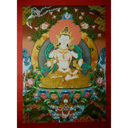 "32""x23.75""  Vajrasattva Thangka Painting"