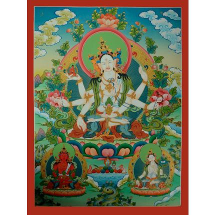 """32.5""""X24.5"""" Namgyalma Thankga Painting"""