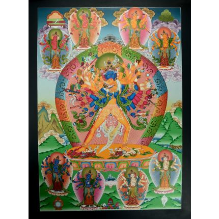 "33""x24"" Kalachakra Thangka Painting"