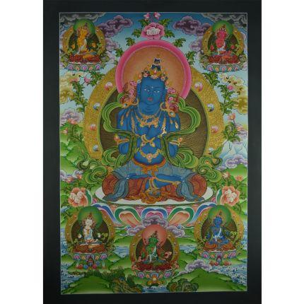 """33"""" x 23.25"""" Vajradhara Thangka Painting"""