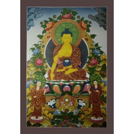 """33""""x23""""  Shakyamuni Buddha Thangka Painting"""