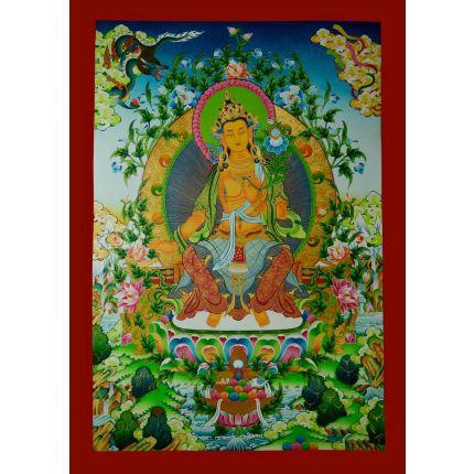 """33"""" x 23.5""""  Maitreya Buddha Thanka Painting"""