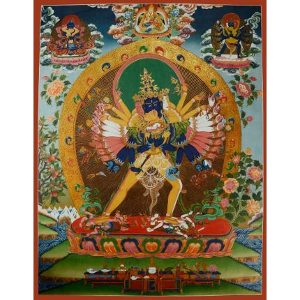 "33""x25.5"" Kalachakra Thangka Painting"