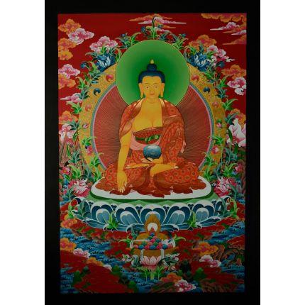 """35""""X23"""" Shakyamuni Buddha Thangka Painting"""