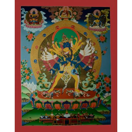 "35""x27"" Chakrasamvara Thangka Painting"