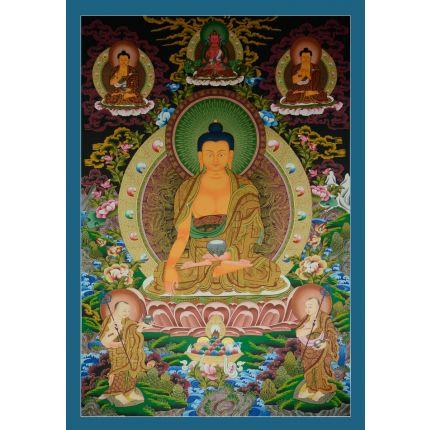 """42.25""""x29.5""""  Shakyamuni Buddha Thangka Painting"""