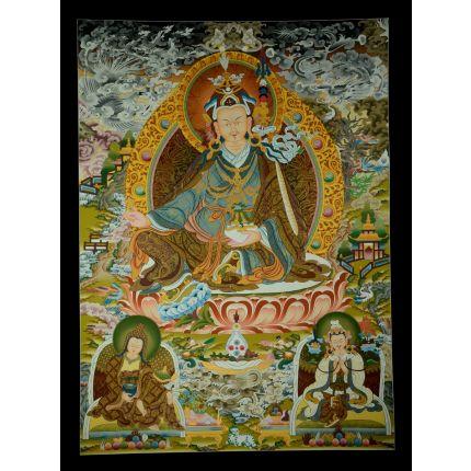 """42.75""""x32"""" Guru Padmasambhava Thangka"""