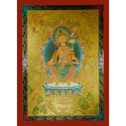 """47.5""""x34.5""""  Maitreya Buddha Thangka Painting"""
