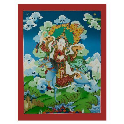 "Achi Chokyi Drolma Thangka Painting - 27.75""x21.5"""