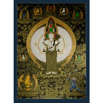 "50.25""x37""   Avalokiteshvara Thankga Painting"