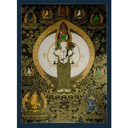 """50.25""""x37""""   Avalokiteshvara Thankga Painting"""