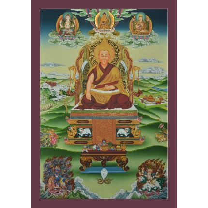 "His Holiness the 14th Dalai Lama of Tibet Thankga - 32.5"" x 22.5"""