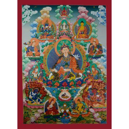 """Guru Padmasambhava Thangka - 33.5""""x24.75"""""""