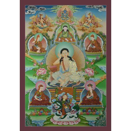 """Guru Milerepa Thankga Popular Tibetan Yogi – 33""""x 22.75"""""""