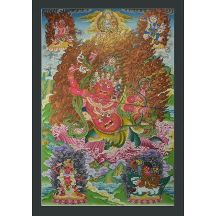 "Rahula  Thankga Painting Tibetan  Buddhism Dharma Protector : 33""x23"""