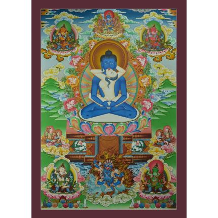 "Samantabhadra Thankga Painting: 32.5""x23"""