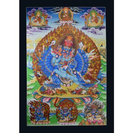 Megh Samvara thangka represent  Buddhist guardian god